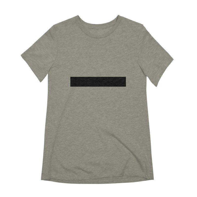 Minus (light shirts) Women's Extra Soft T-Shirt by jjqad's Artist Shop