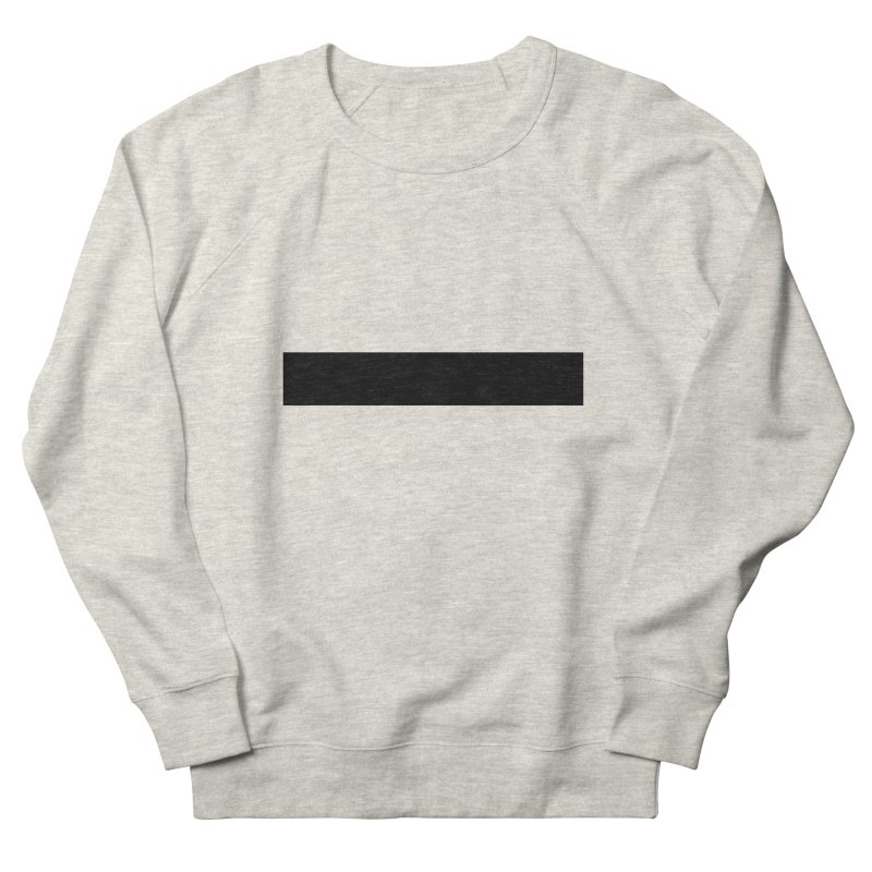 Minus (light shirts) Women's French Terry Sweatshirt by jjqad's Artist Shop