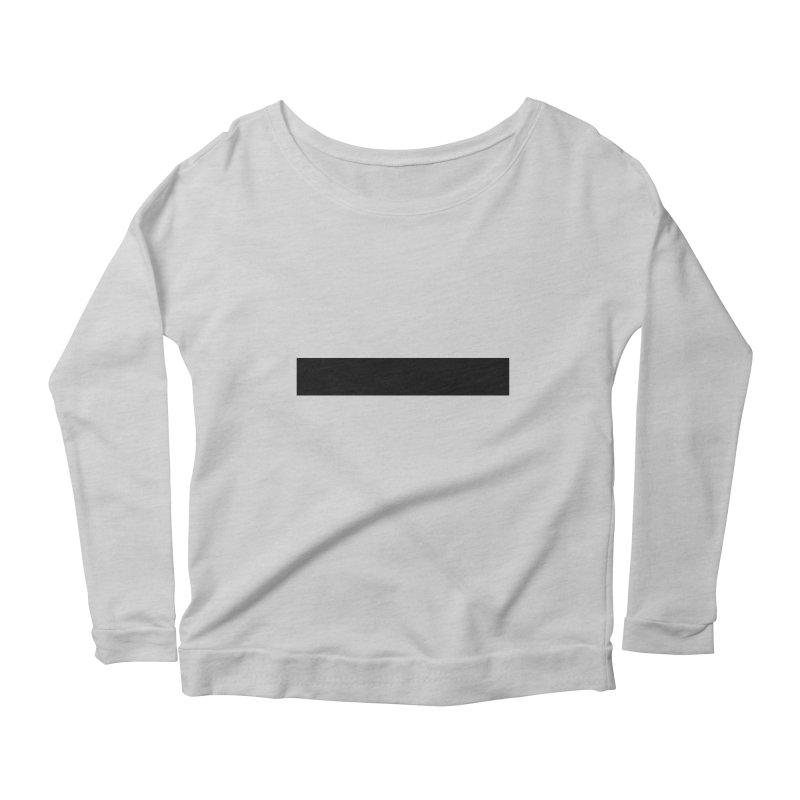 Minus (light shirts) Women's Scoop Neck Longsleeve T-Shirt by jjqad's Artist Shop