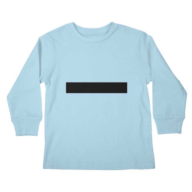 Minus (light shirts) Kids Longsleeve T-Shirt by jjqad's Artist Shop