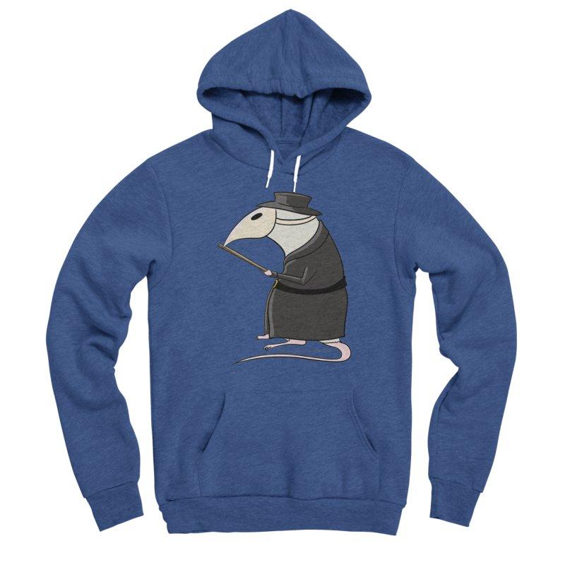 Plague Rat Doctor Men's Sponge Fleece Pullover Hoody by JJ Sandee's Artist Shop
