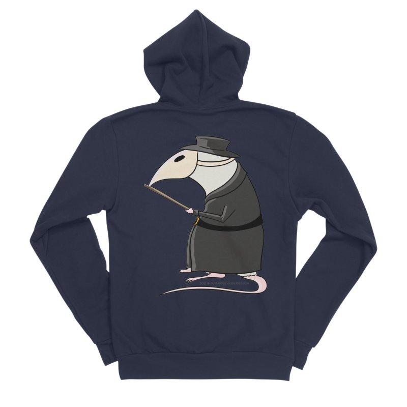 Plague Rat Doctor Men's Sponge Fleece Zip-Up Hoody by JJ Sandee's Artist Shop