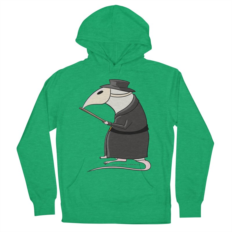 Plague Rat Doctor Women's French Terry Pullover Hoody by JJ Sandee's Artist Shop