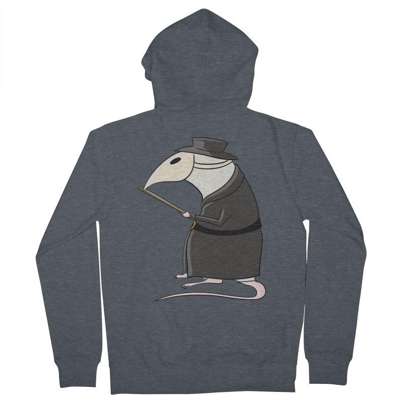 Plague Rat Doctor Men's French Terry Zip-Up Hoody by JJ Sandee's Artist Shop