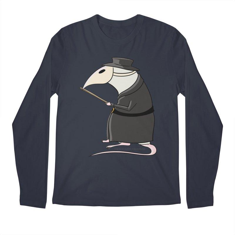 Plague Rat Doctor Men's Regular Longsleeve T-Shirt by JJ Sandee's Artist Shop