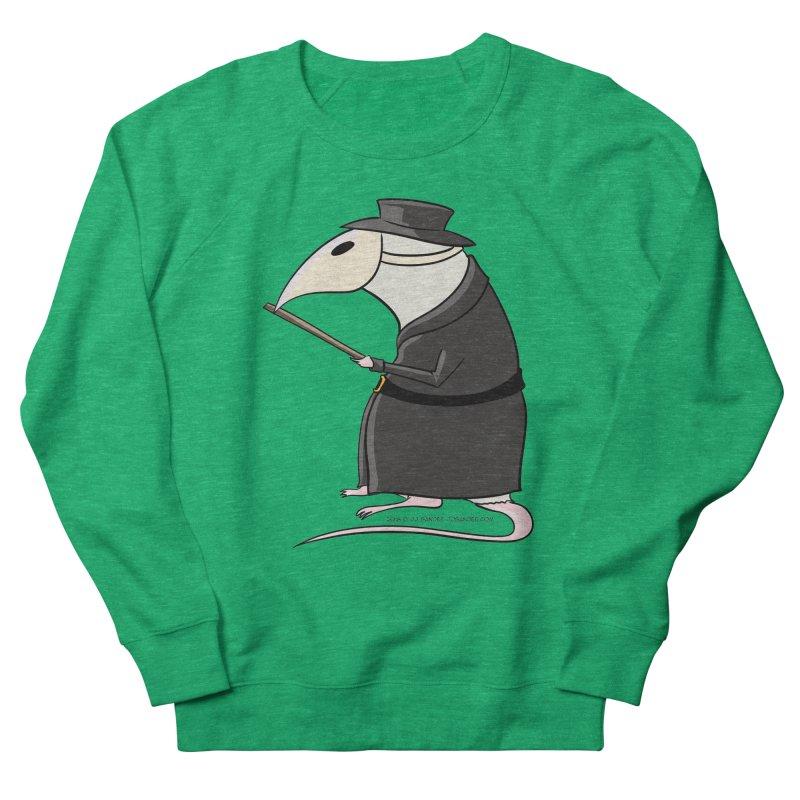 Plague Rat Doctor Men's French Terry Sweatshirt by JJ Sandee's Artist Shop