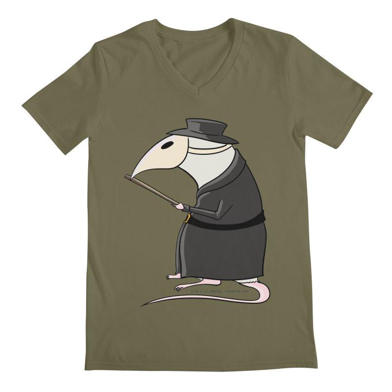 Plague Rat Doctor Men's V-Neck by JJ Sandee's Artist Shop
