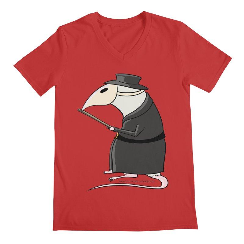 Plague Rat Doctor Men's Regular V-Neck by JJ Sandee's Artist Shop