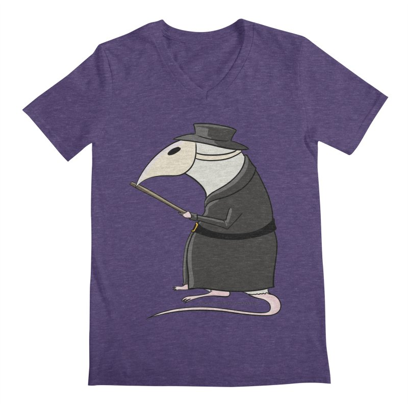 Plague Rat Doctor Men's Regular V-Neck by JJ Sandee's Artist Shop