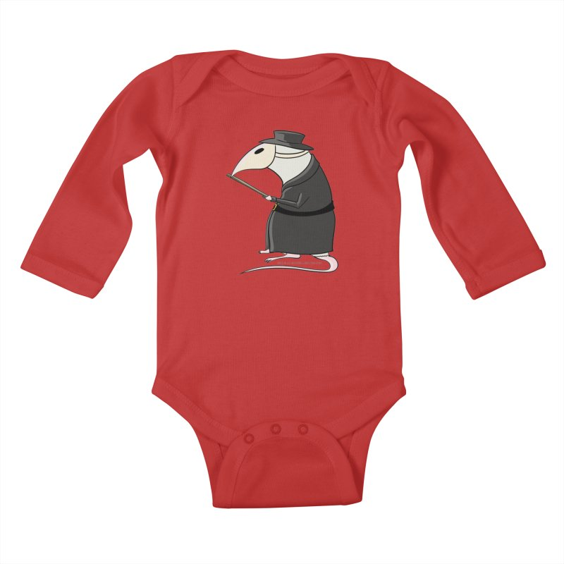 Plague Rat Doctor Kids Baby Longsleeve Bodysuit by JJ Sandee's Artist Shop