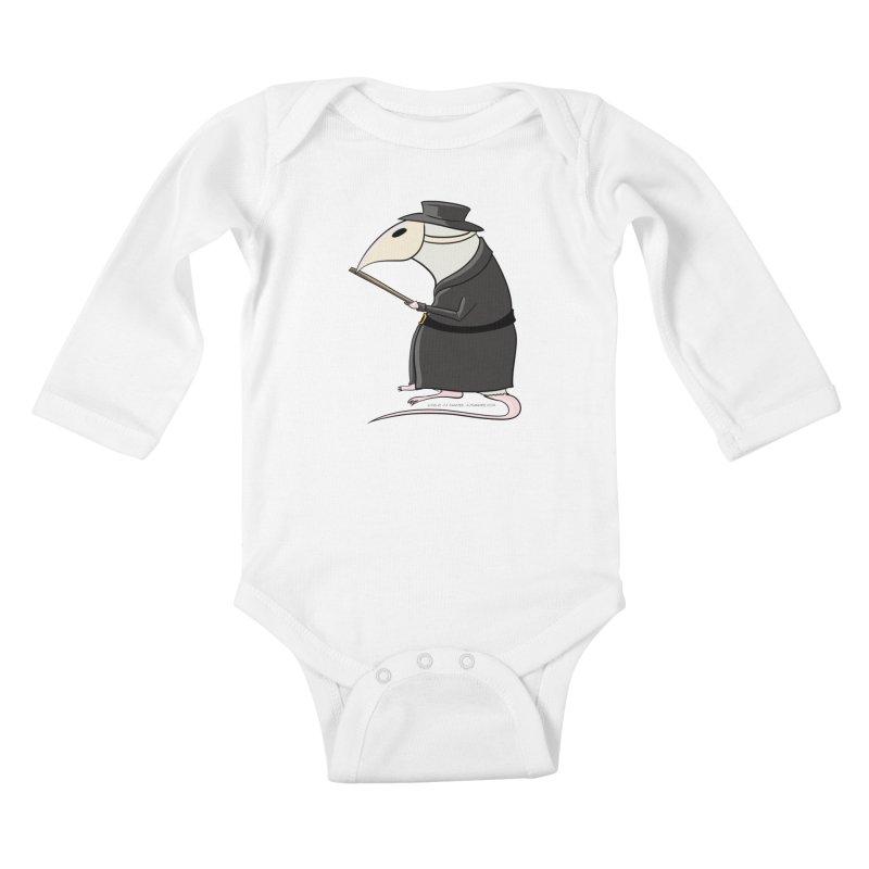 Plague Rat Doctor Kids Baby Longsleeve Bodysuit by JJ Sandee's Artist Shop