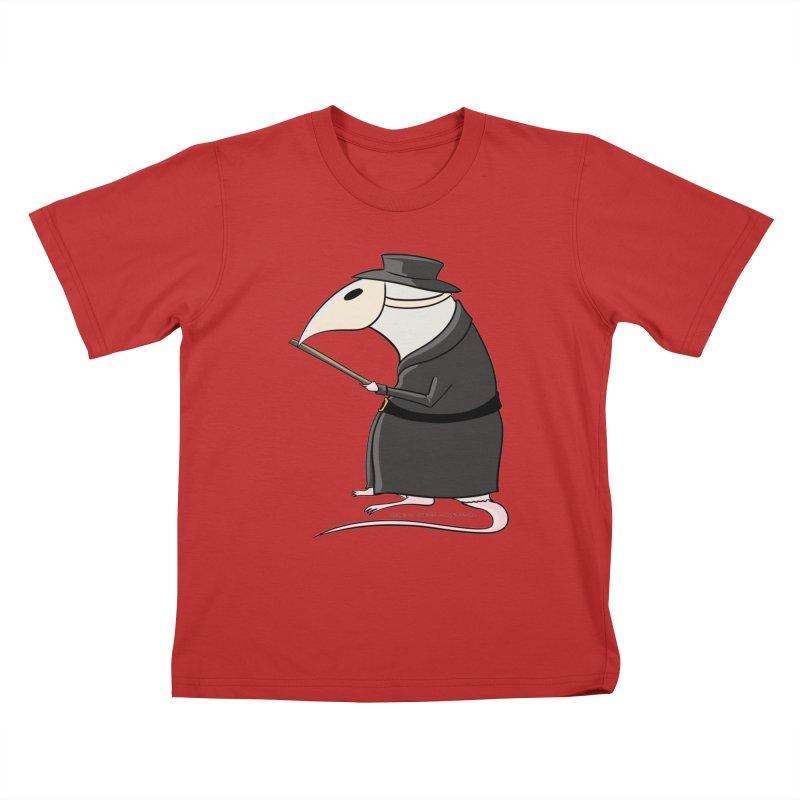 Plague Rat Doctor Kids T-Shirt by JJ Sandee's Artist Shop