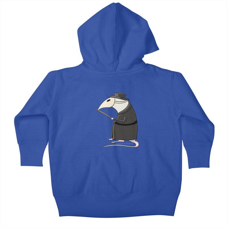 Plague Rat Doctor Kids Baby Zip-Up Hoody by JJ Sandee's Artist Shop