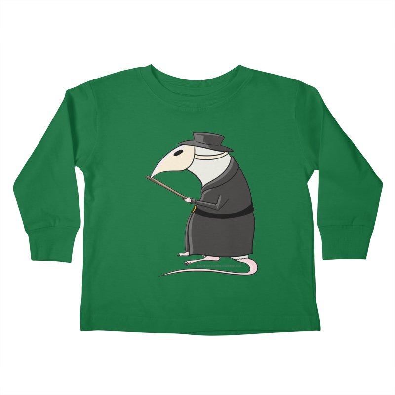 Plague Rat Doctor Kids Toddler Longsleeve T-Shirt by JJ Sandee's Artist Shop