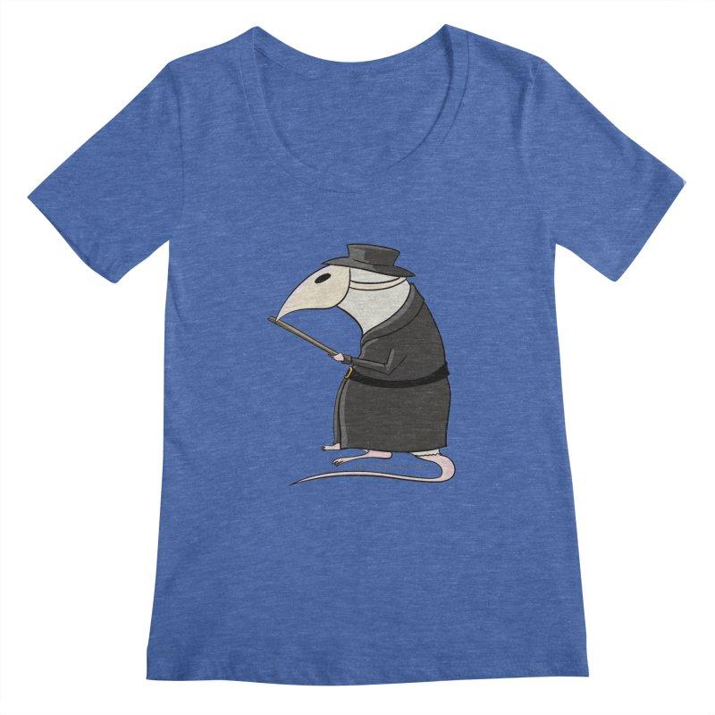 Plague Rat Doctor Women's Regular Scoop Neck by JJ Sandee's Artist Shop