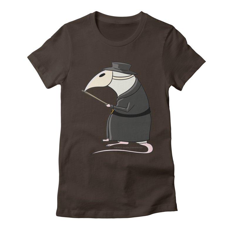 Plague Rat Doctor Women's Fitted T-Shirt by JJ Sandee's Artist Shop
