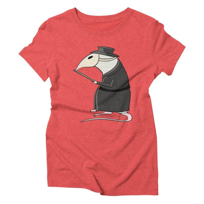 Plague Rat Doctor Women's Triblend T-Shirt by JJ Sandee's Artist Shop