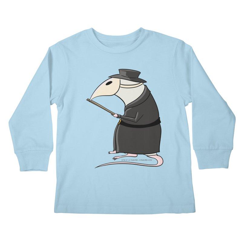 Plague Rat Doctor Kids Longsleeve T-Shirt by JJ Sandee's Artist Shop