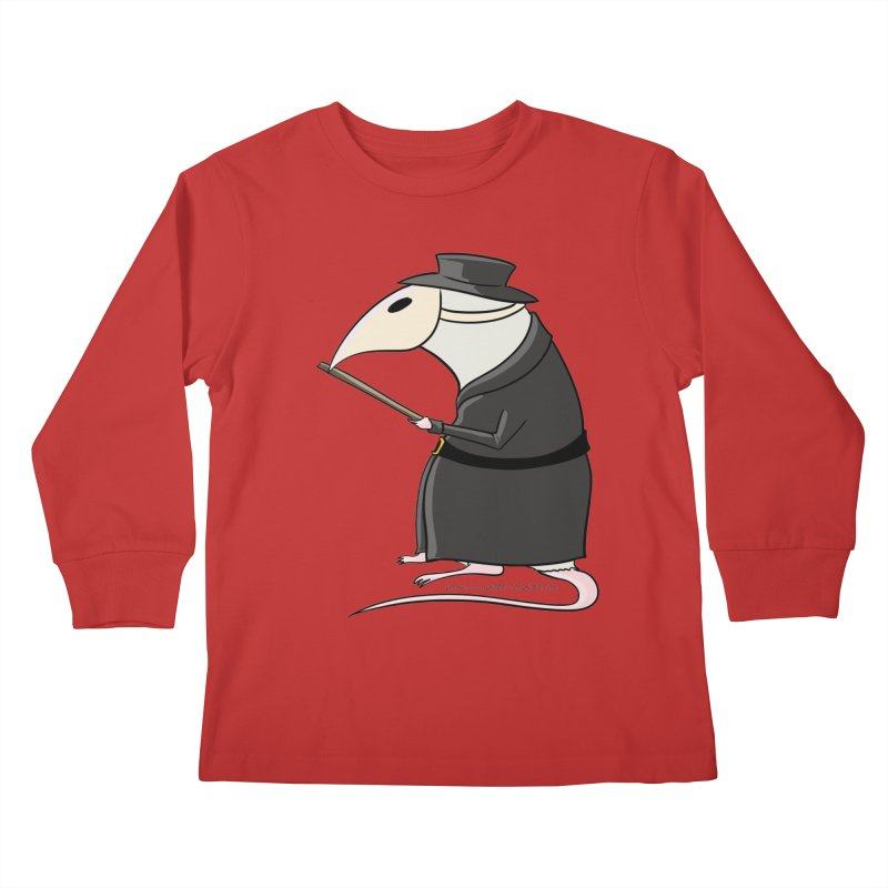 Plague Rat Doctor Kids Longsleeve T-Shirt by JJ Sandee's Artist Shop
