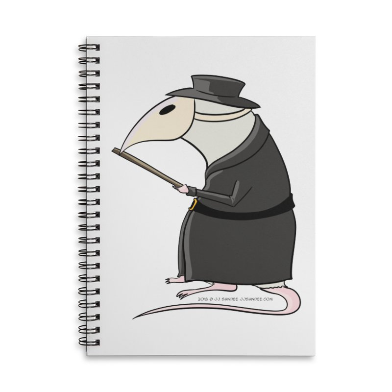 Plague Rat Doctor Accessories Notebook by JJ Sandee's Artist Shop