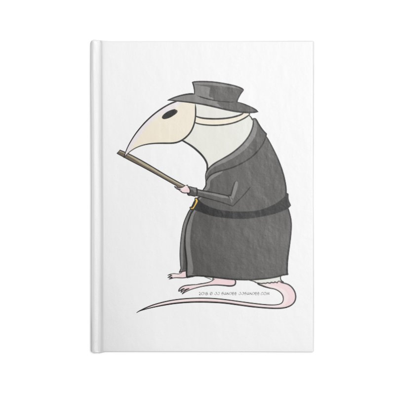 Plague Rat Doctor Accessories Lined Journal Notebook by JJ Sandee's Artist Shop