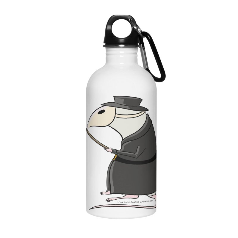 Plague Rat Doctor Accessories Water Bottle by JJ Sandee's Artist Shop