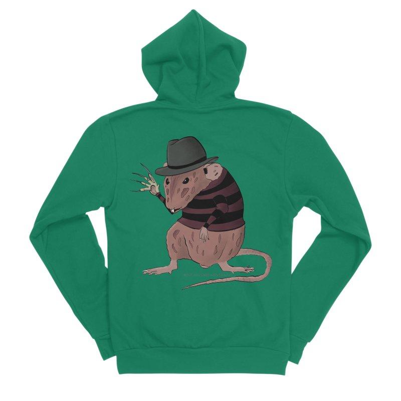Ratty Kruger Men's Sponge Fleece Zip-Up Hoody by JJ Sandee's Artist Shop