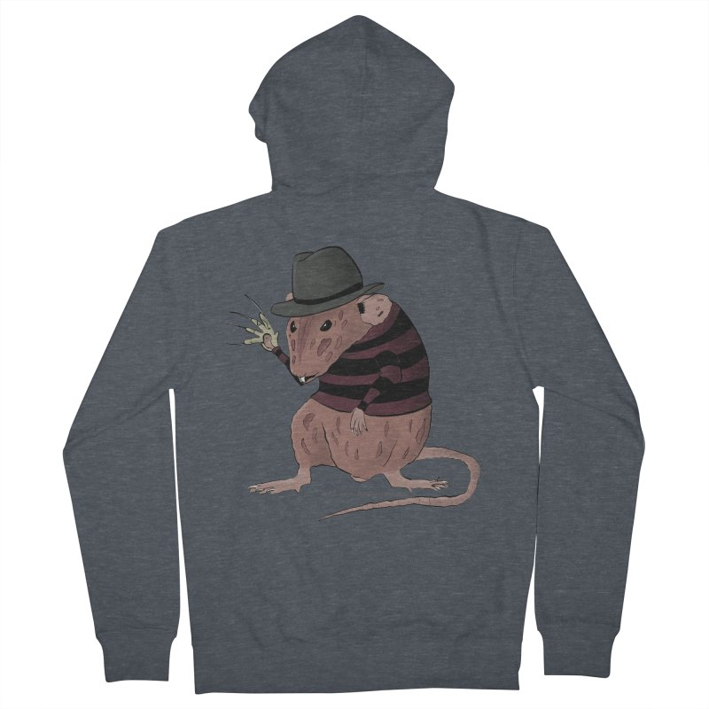 Ratty Kruger Men's French Terry Zip-Up Hoody by JJ Sandee's Artist Shop