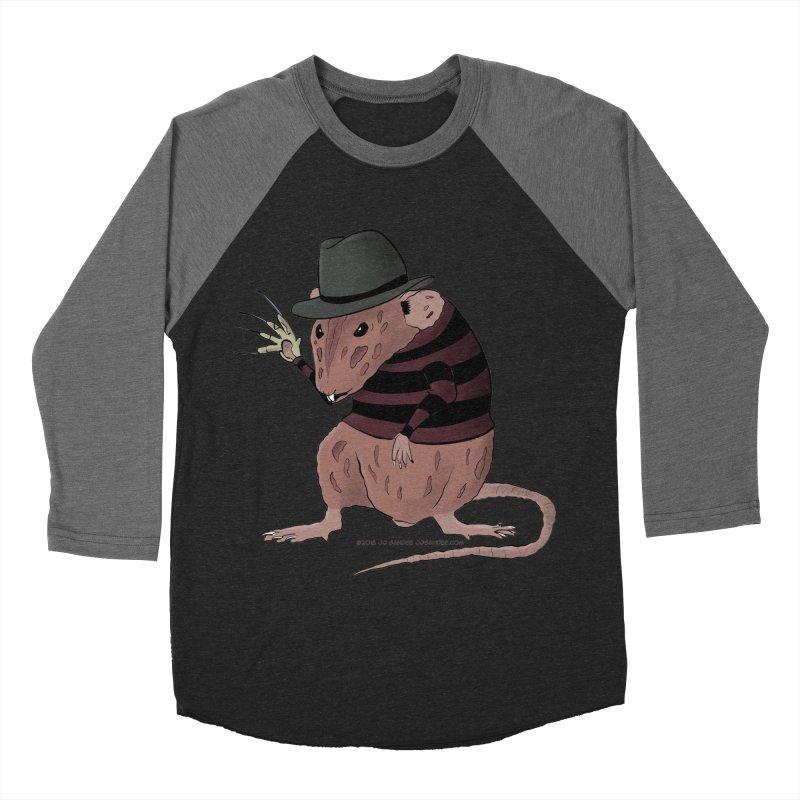 Ratty Kruger Men's Baseball Triblend Longsleeve T-Shirt by JJ Sandee's Artist Shop