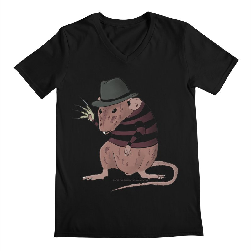 Ratty Kruger Men's Regular V-Neck by JJ Sandee's Artist Shop