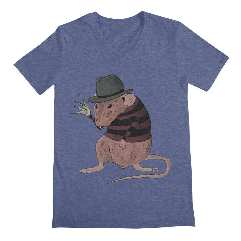 Ratty Kruger Men's Regular V-Neck by JJ Sandee's Artist Shop