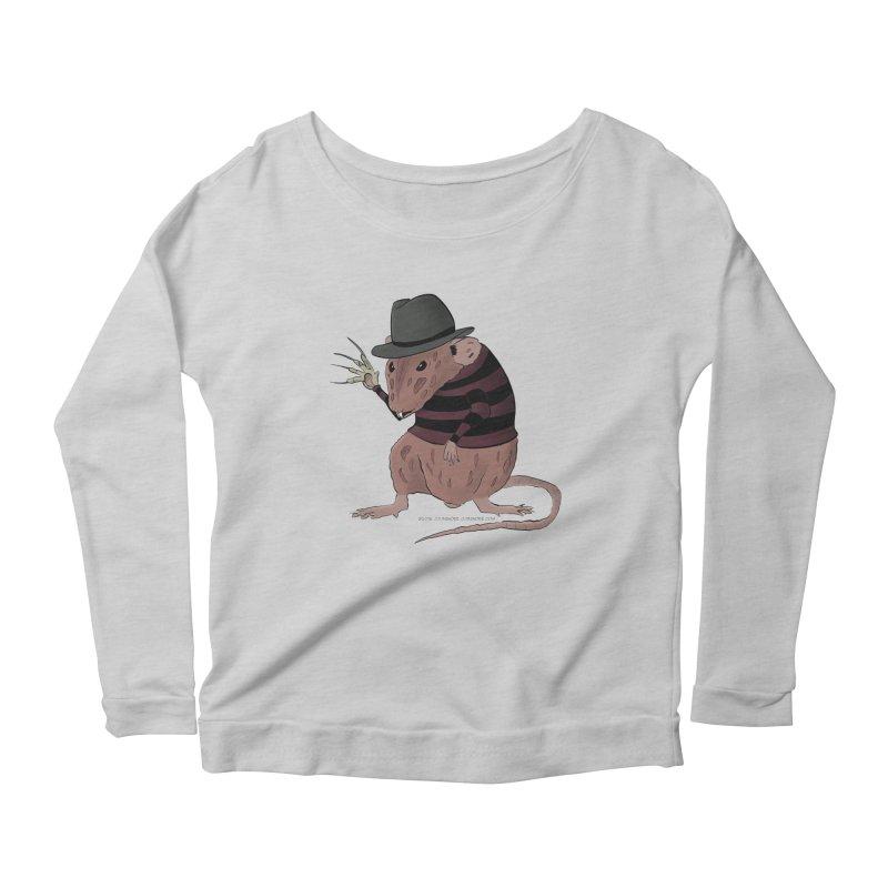 Ratty Kruger Women's Scoop Neck Longsleeve T-Shirt by JJ Sandee's Artist Shop