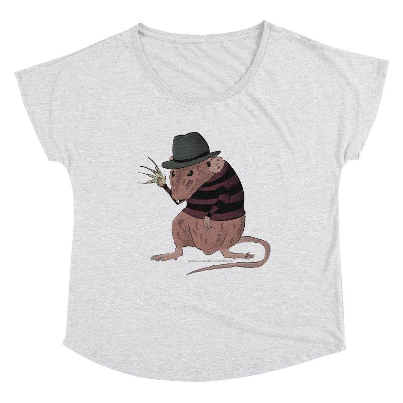 Ratty Kruger Women's Dolman Scoop Neck by JJ Sandee's Artist Shop