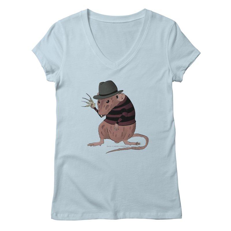 Ratty Kruger Women's Regular V-Neck by JJ Sandee's Artist Shop
