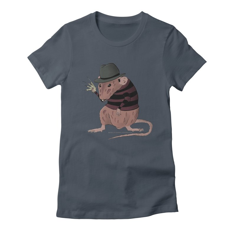 Ratty Kruger Women's Fitted T-Shirt by JJ Sandee's Artist Shop