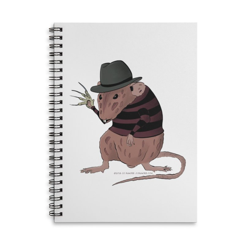 Ratty Kruger Accessories Lined Spiral Notebook by JJ Sandee's Artist Shop