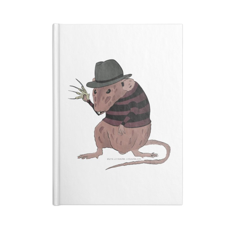 Ratty Kruger Accessories Lined Journal Notebook by JJ Sandee's Artist Shop