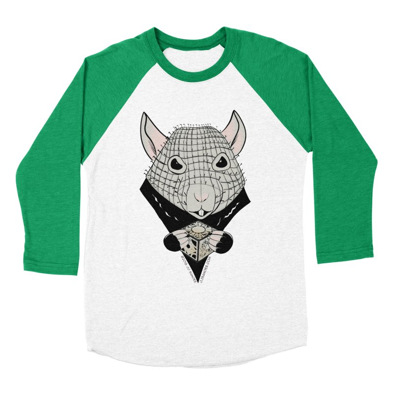 PinRat Women's Baseball Triblend Longsleeve T-Shirt by JJ Sandee's Artist Shop