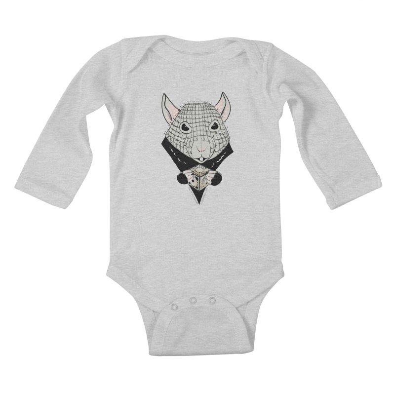 PinRat Kids Baby Longsleeve Bodysuit by JJ Sandee's Artist Shop