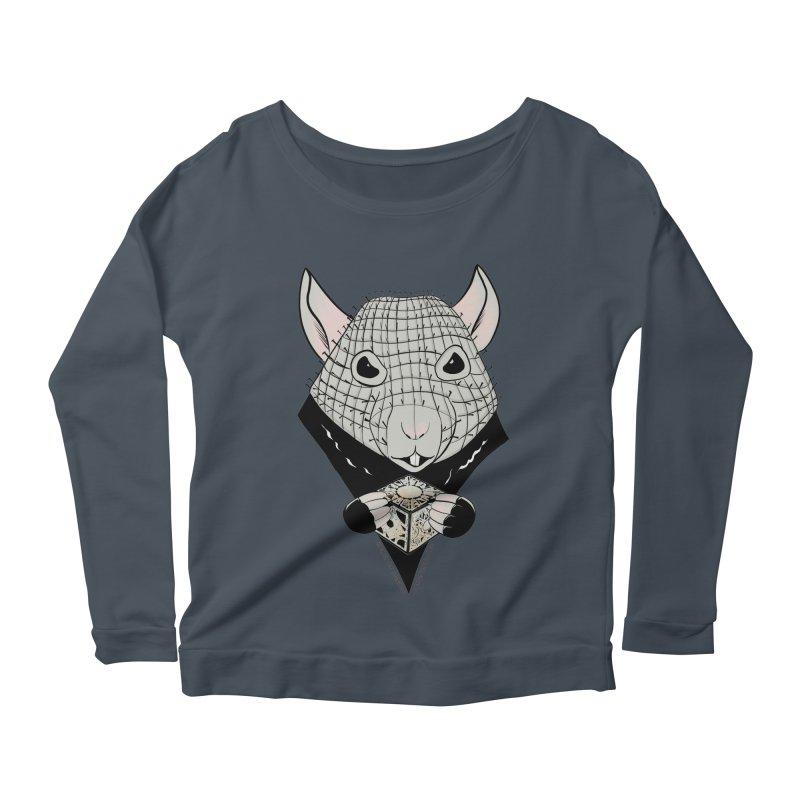 PinRat Women's Scoop Neck Longsleeve T-Shirt by JJ Sandee's Artist Shop