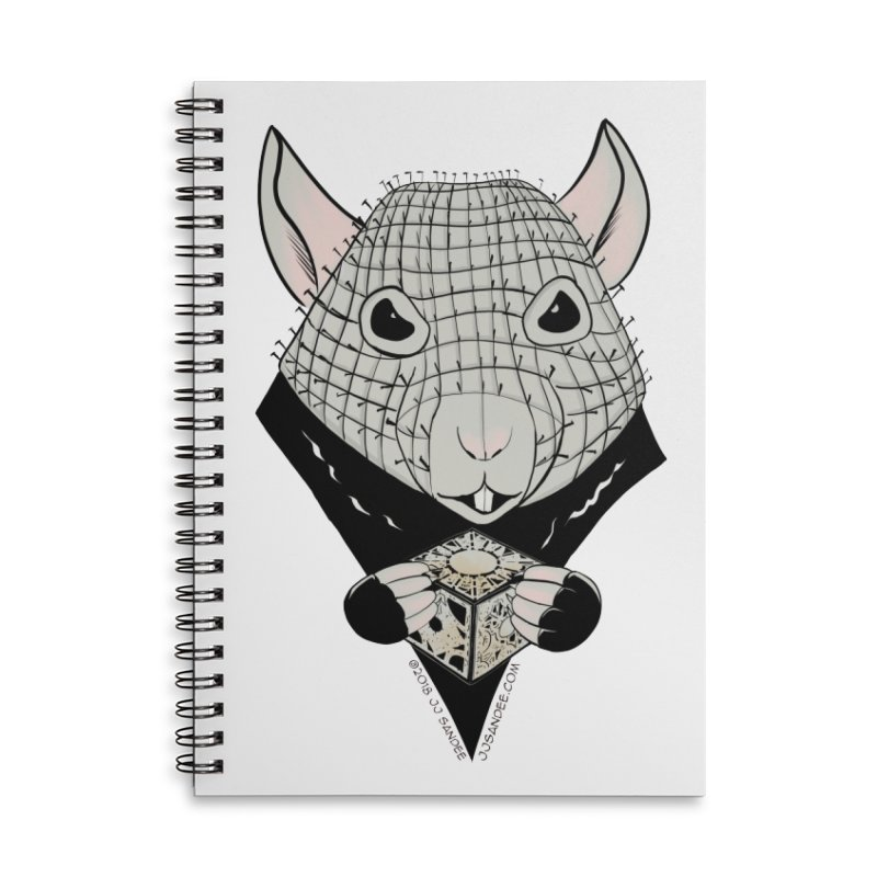 PinRat Accessories Lined Spiral Notebook by JJ Sandee's Artist Shop