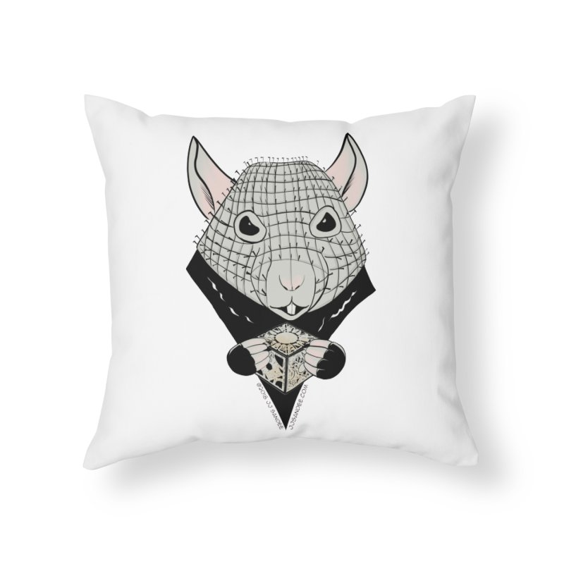 PinRat Home Throw Pillow by JJ Sandee's Artist Shop