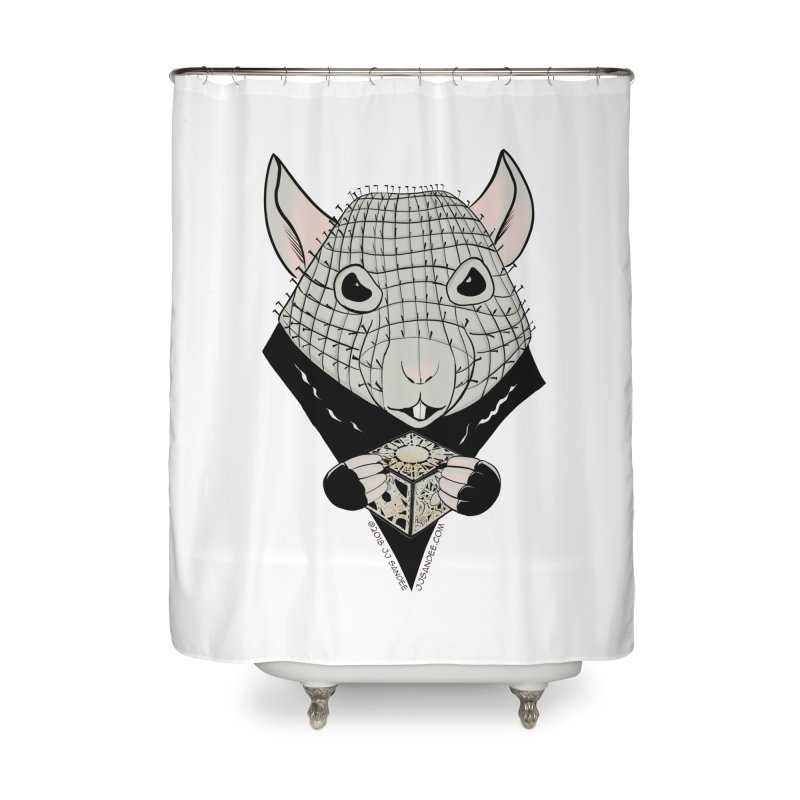 PinRat Home Shower Curtain by JJ Sandee's Artist Shop