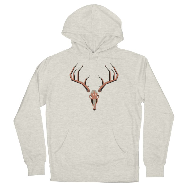 Deer Hunter in Men's French Terry Pullover Hoody Heather Oatmeal by jkempain's Artist Shop