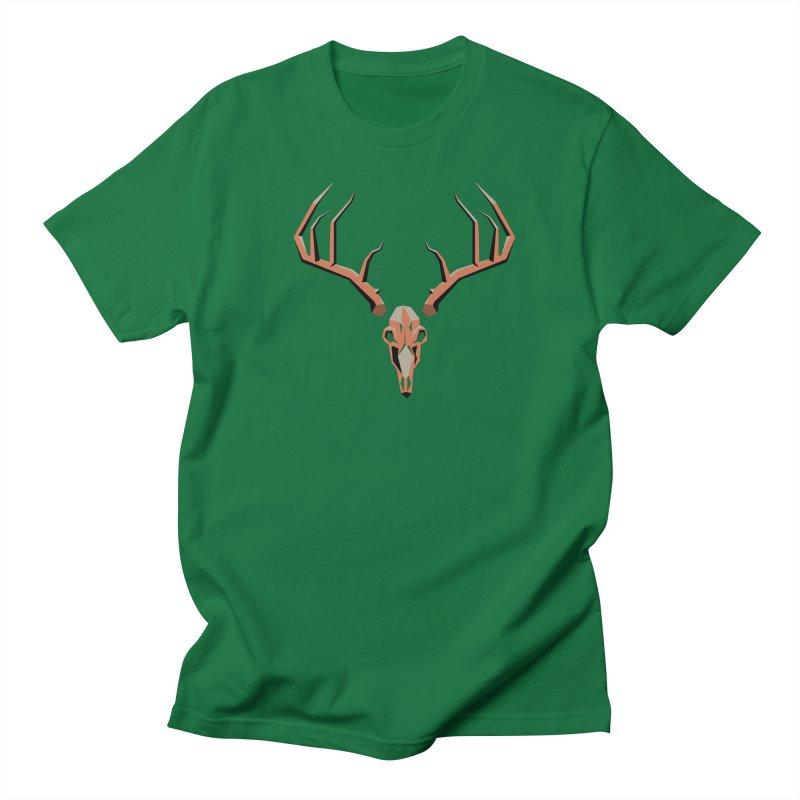 Deer Hunter in Men's Regular T-Shirt Kelly Green by jkempain's Artist Shop