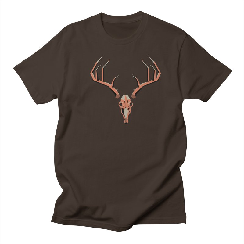 Deer Hunter in Men's Regular T-Shirt Chocolate by jkempain's Artist Shop