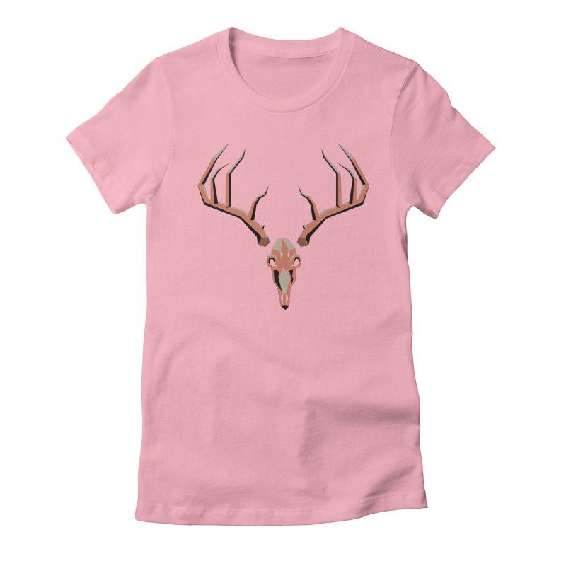 Deer Hunter Women's Fitted T-Shirt by jkempain's Artist Shop