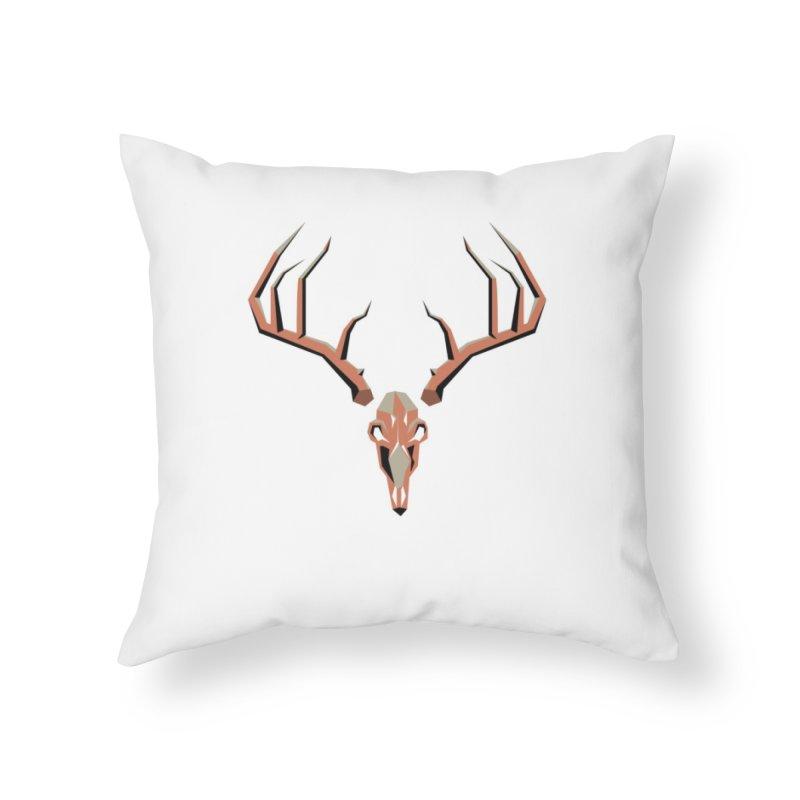 Deer Hunter Home Throw Pillow by jkempain's Artist Shop