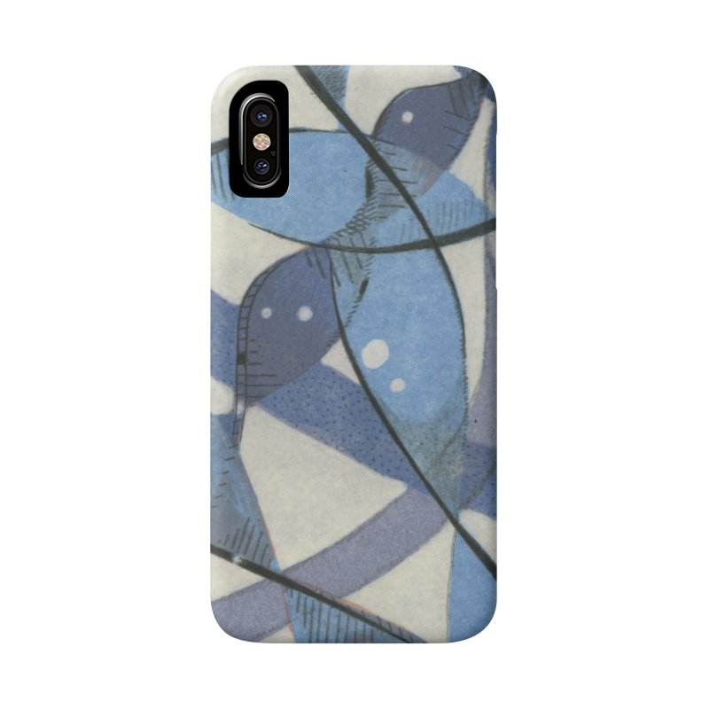 Blue Pattern in iPhone X / XS Phone Case Slim by jkempain's Artist Shop