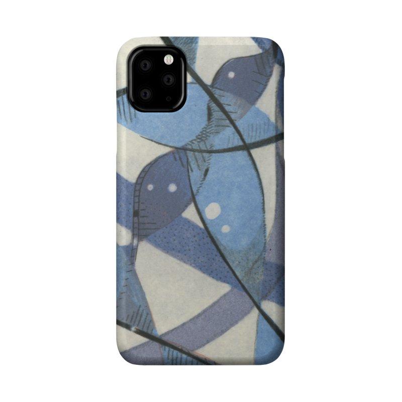 Blue Pattern Accessories Phone Case by jkempain's Artist Shop